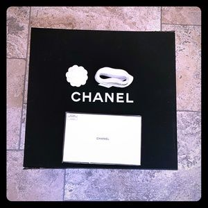 Chanel box ribbon flower care booklet tissue paper